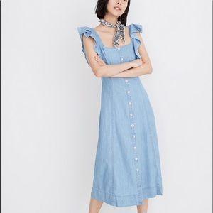NWT Denim Princess Maxi Dress